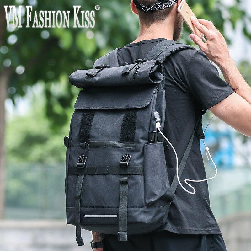 VM FASHION KISS Men High-capacity USB Travel Charging BackpackVM FASHION KISS Men High-capacity USB Travel Charging Backpack