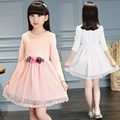 Meninas vestido de renda boutique Nova Chegada 2017 princesa elegante vestido de criança vestidos de flores crianças adolescentes roupas designer