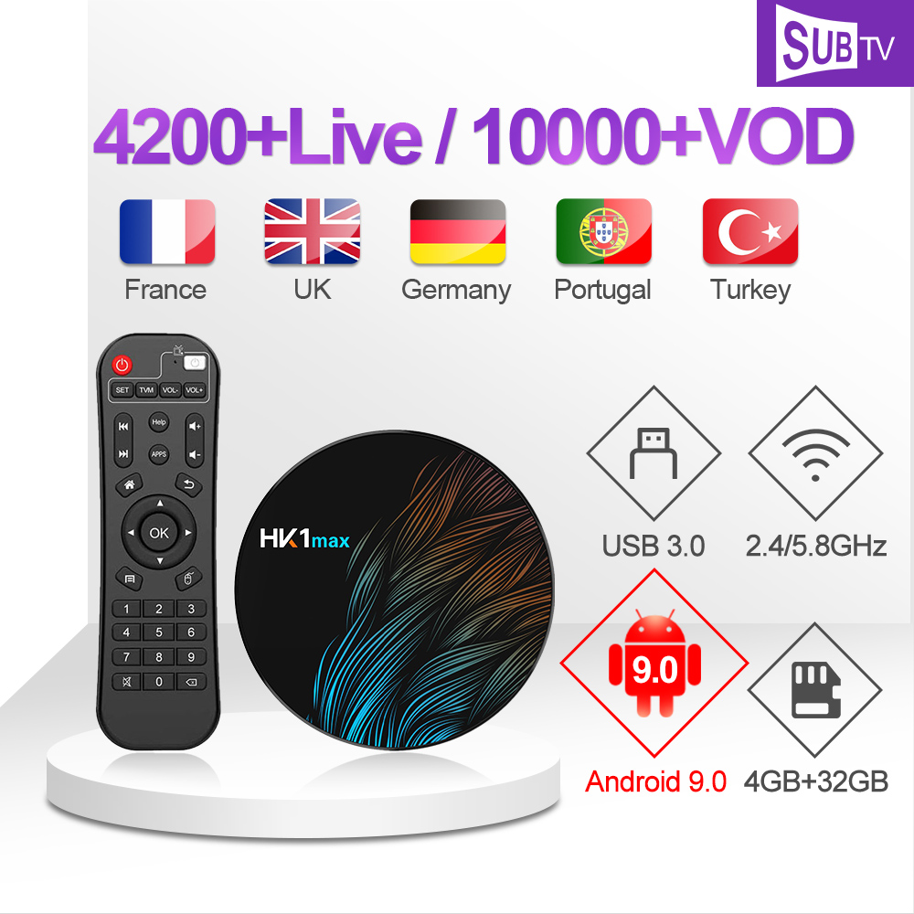 HK1 Max IPTV Portugal Italy IP TV France Arabic 1 year IPTV Code Russia Albania Poland Android 9.0 IPTV Spain Africa IP TV Italy-in Set-top Boxes from Consumer Electronics