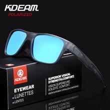 KDEAM Square Sport Sunglasses Polarized Mirror lens Anti-Reflective Men Sun Glas