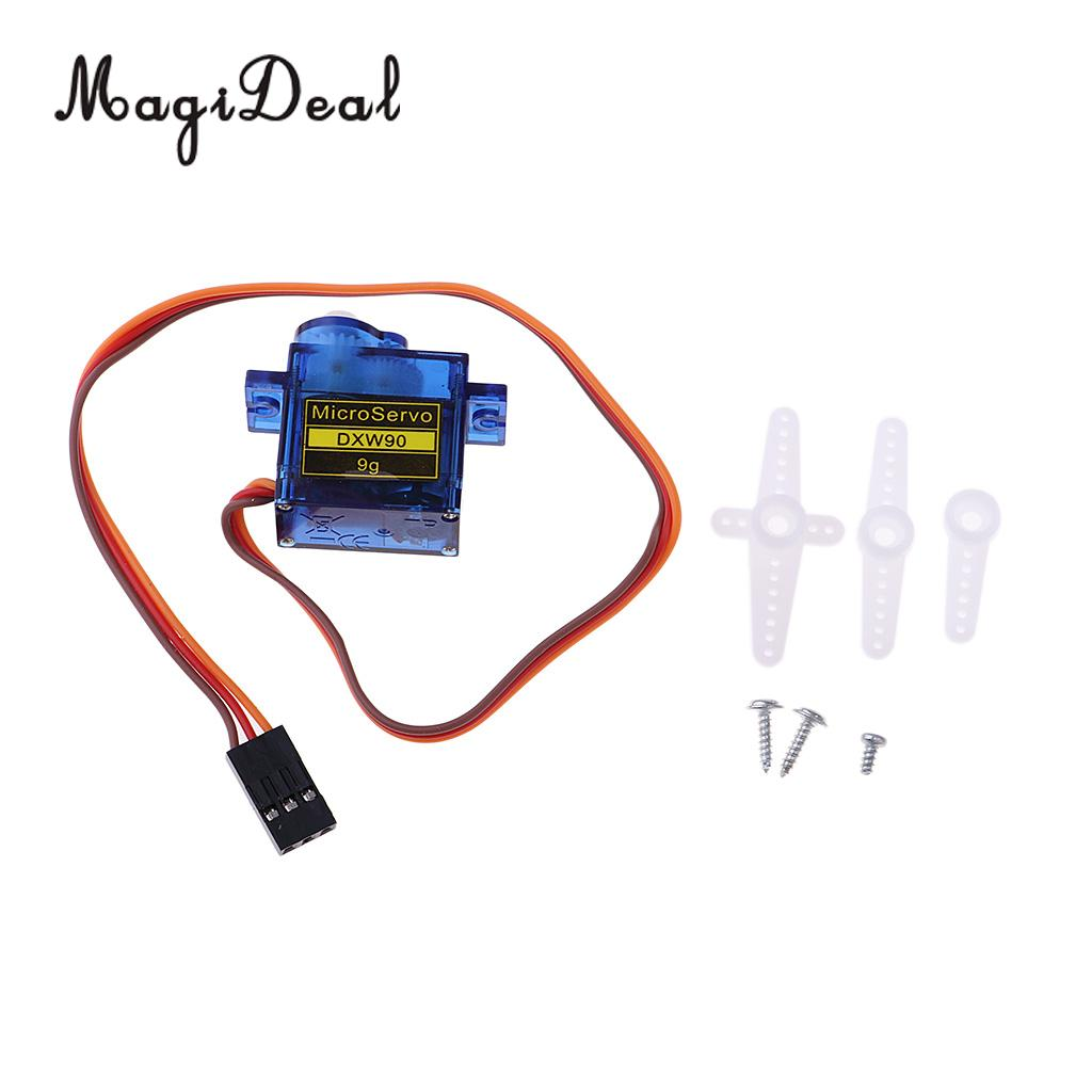 DXW90 9g Micro Servo Motor Kit for RC Robot Arm Helicopter Airplane Boat Arduino Remote Control