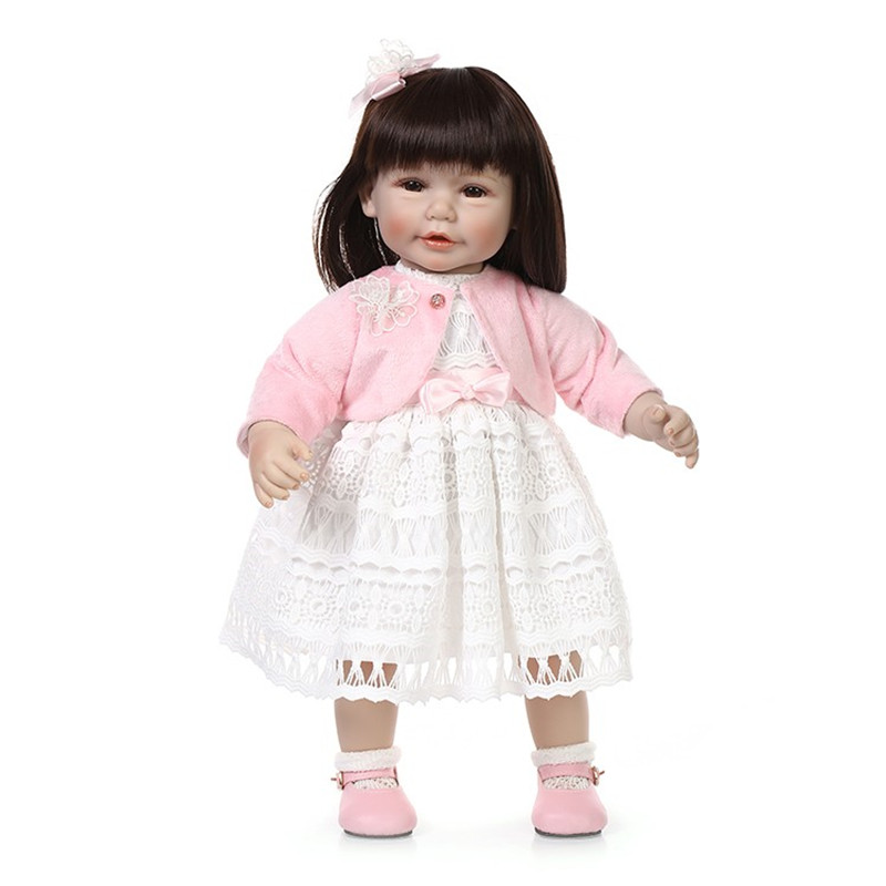 Фото New Lifelike silicone baby doll toys vinyl princess toddler girls doll accompany sleeping baby birthday gift/present for child. Купить в РФ