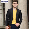 Port&Lotus Men Suit Jacket New Arrival Brand Clothing With Solid Color Slim Fit Formal Style Single Button Business Suit 012