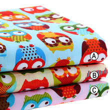 Cotton Fabric Printed Fabrics Patchwork For Sewing Quilt Scrapbooking Tissue Pattern Needlework Material Curtain Cloth Owl Set