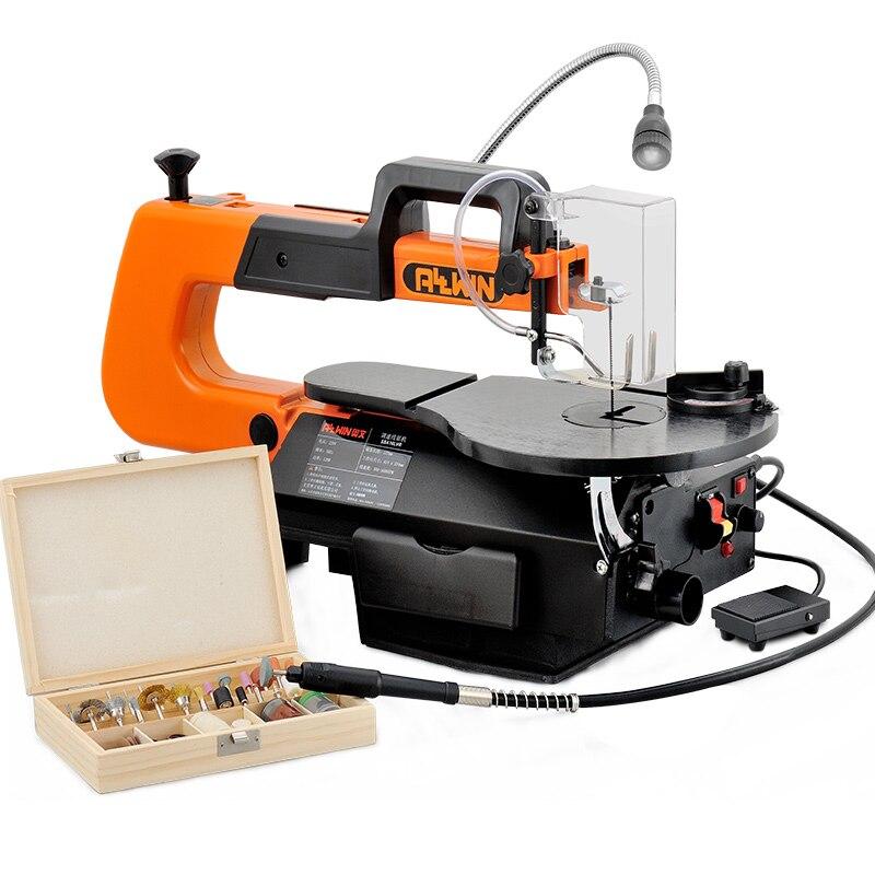 Scie sauteuse électrique scie à bois scie à fil Machine à découper vitesse réglable menuiserie Machine de découpe Table scie SSA16L-VR