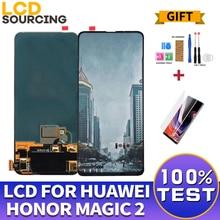 6.39 cala dla Huawei Honor Magic 2 wyświetlacz LCD ekran dotykowy Digitizer zgromadzenie dla Honor Magic 2 wymiana wyświetlacza