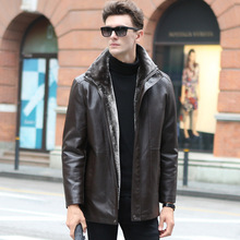 Russian Winter Leather Jacket Men Thickening Warm Windbreak Outwear Mens Leather Jackets And Coats High Quality Veste Cuir Homme