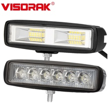 VISORAK 6 60W Offroad LED Work Light Truck Driving 4x4 4WD ATV Rear For Jeep SUV Trailer Car