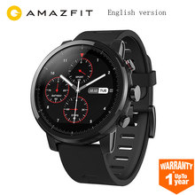 Xiaomi Huami Amazfit Stratos Smart Sports Watch 2 GPS 5ATM 2.5D Screen GPS Swimming Smartwatch For Strava IOS English Version(China)