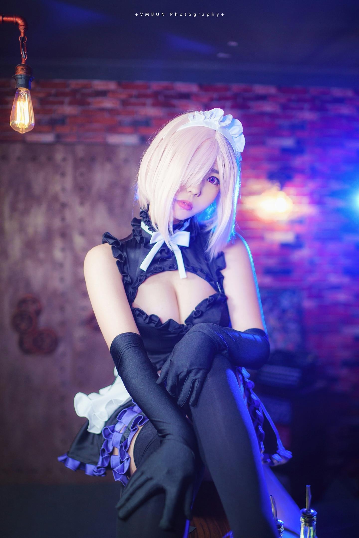 fgo玛修同人女仆cosplay