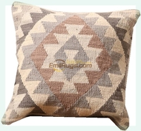 Wool Kilim Floral Pillow / Cushion Cover Square Pillow Cover Cushion Case Toss Pillow Kilim Art Handmade Woven Klicusyg28