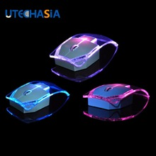 V6 Wireless Mouse Creative Ultra-thin Transparent Colorful Light Optical Mice for Gift Notebook iPad Mac Air