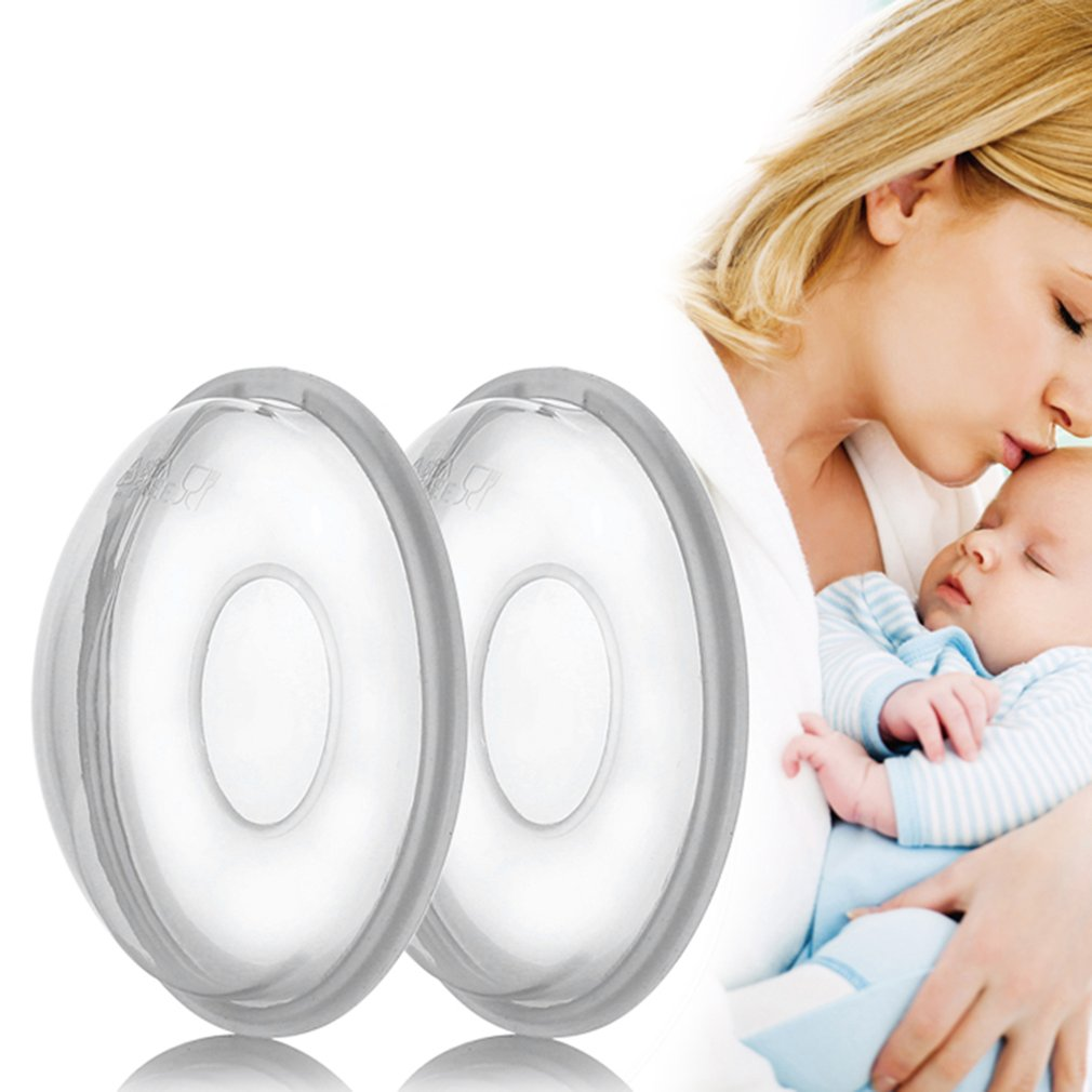 2PCS Reusable Silicon Portable Breast Feeding Collector Soft Postpartum Nipple Suction Container Maternity Prevent Leakage Pad