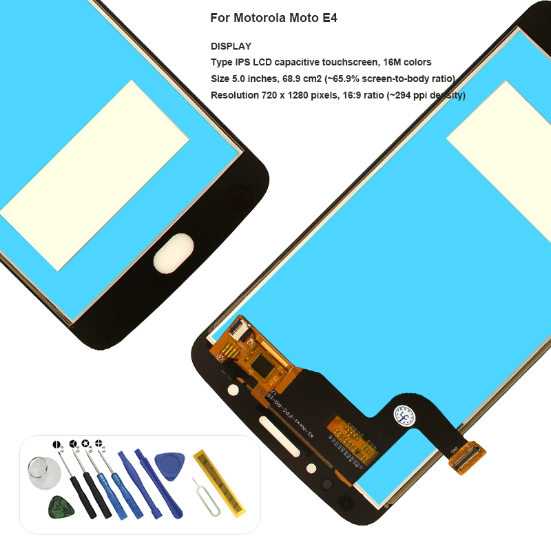 For Motorola <font><b>Moto</b></font> <font><b>E4</b></font> XT1766 <font><b>XT1763</b></font> XT1772 XT1762 lcd <font><b>Display</b></font> touch screen assembly with tools replacement image