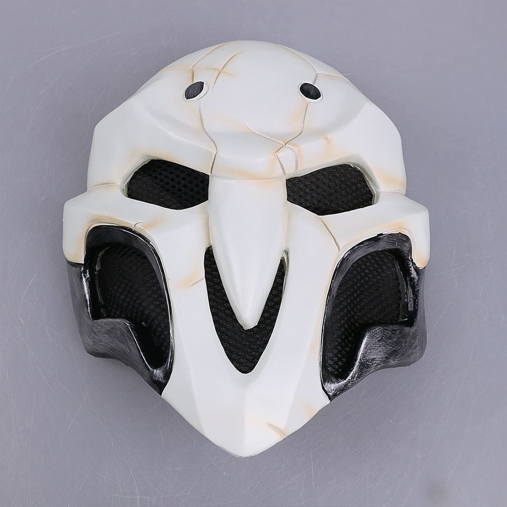 High Quality Over watch Game Mask PVC Cosplay Reaper Mask Helmet Halloween Reaper Party Mask2