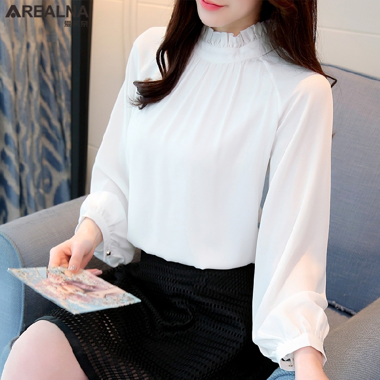 Women's Clothing New Womens Blouses Loose Casual Imitation Linen Long-sleeved Shirt 2131