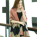 Women Oversized Blanket Scarf Wrap Shawl Cozy Faux Cashmere New 2016 Fashion