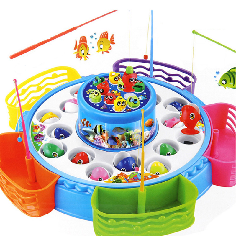 New 8 Types 1 Set Fashion Colourful Baby Educational Toy Fish Plastic Magnetic Fishing Toys Set Game Kids Gifts For Kids Outdoor