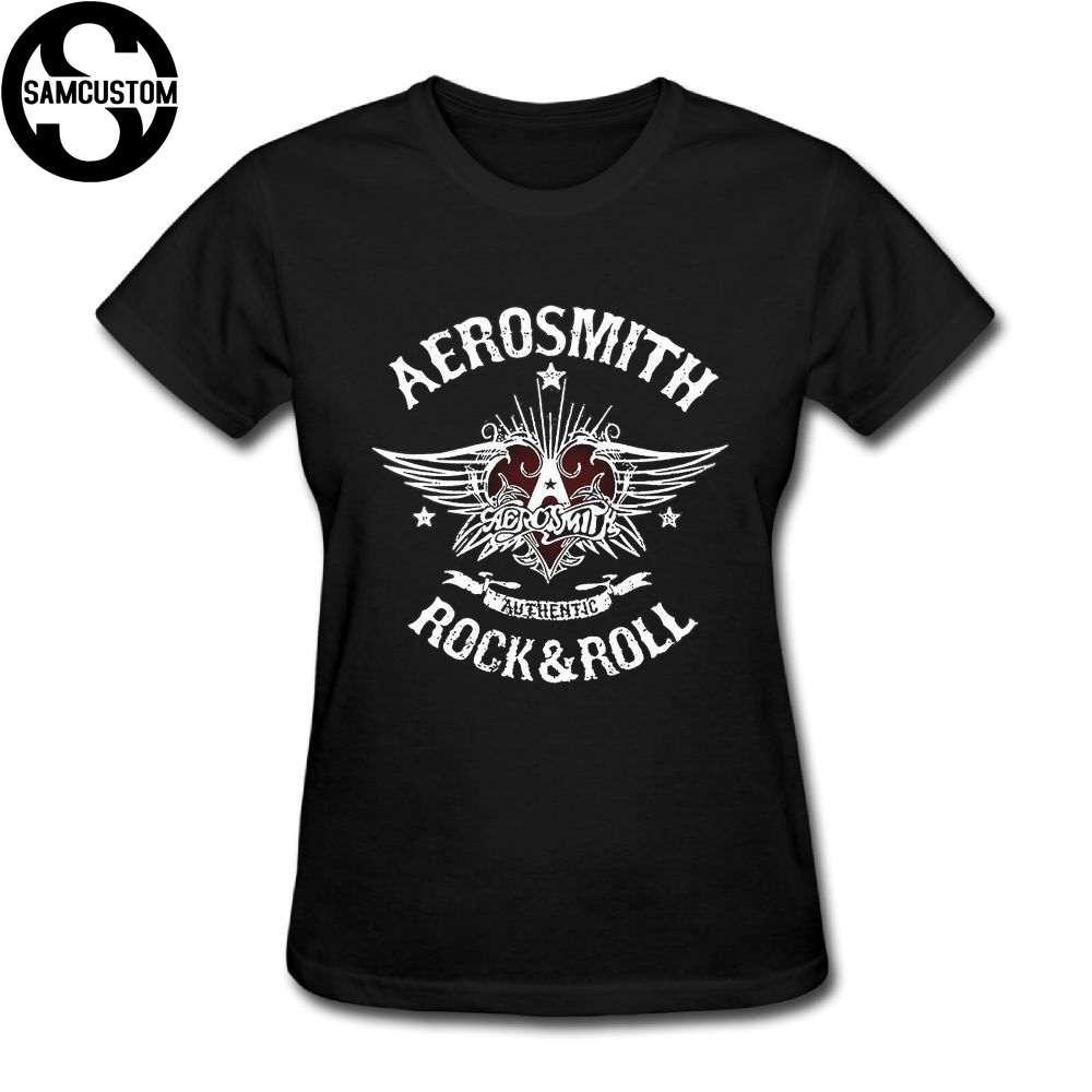 SAMCUSTOM New 3D Printing Aerosmith T-shirts For Women Harajuku Funny Product Tops Lady Casual Short Sleeve T-Shirt Tops