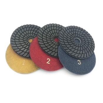 цена на 4 Inch 100mm Diamond Wet/Dry Polishing Pads 3 STEP Set For Marble Angle Grinder Hand Polisher Floor Grinder Polisher