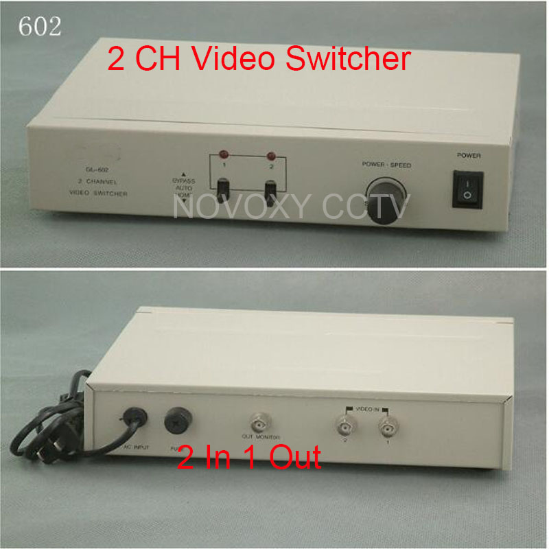 Free Shipping 2 In 1 Out Composite BNC Video Switcher For CCTV Security System bnc video distributor 16 in 64 out composite amplifier 16ch to 64ch splitter for cctv security camera dvr system