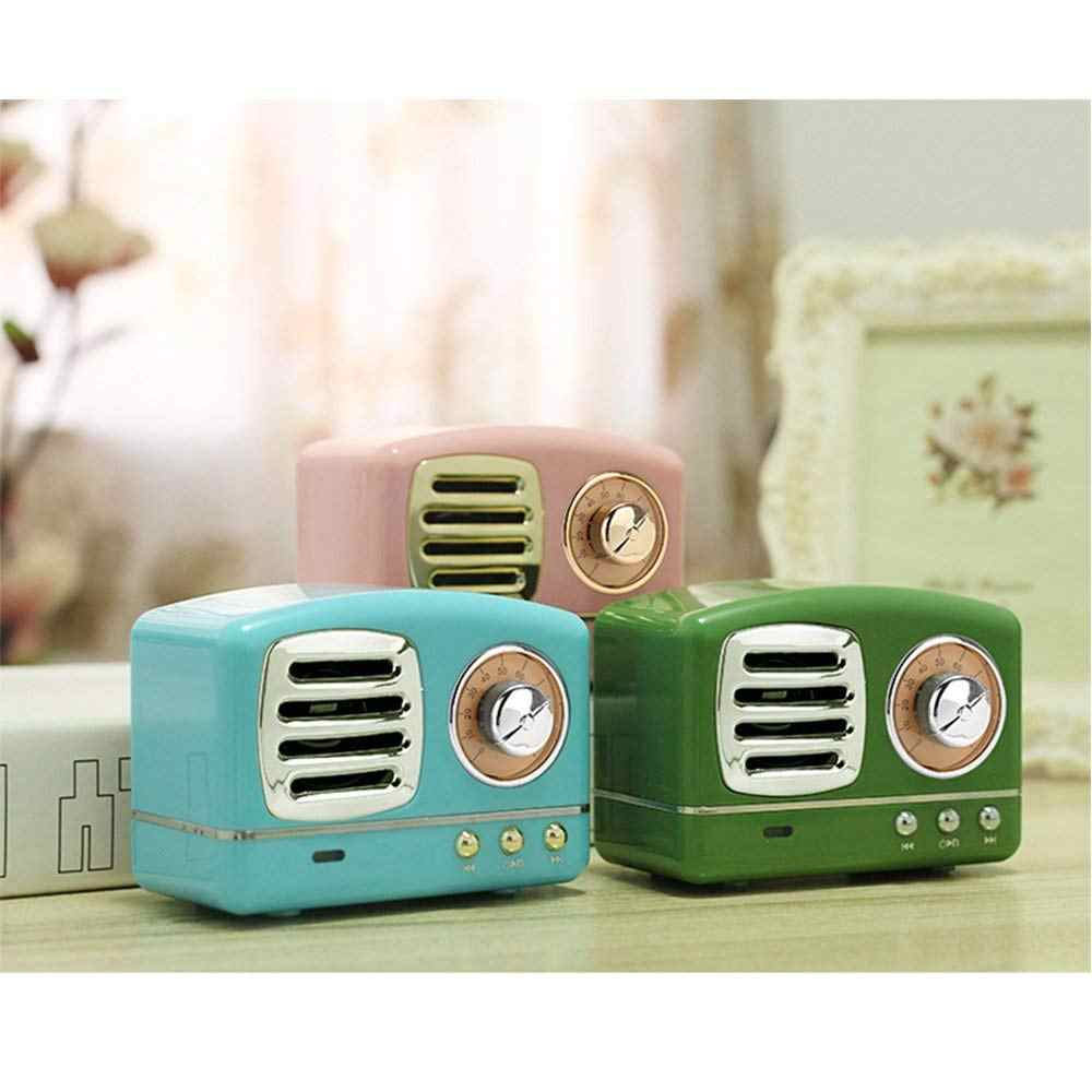 Retro Mini Wireless Portable Bluetooth Speaker with HD Sound for iPhone iPod PC Vintage BT Blutooth Speaker for Travel Home