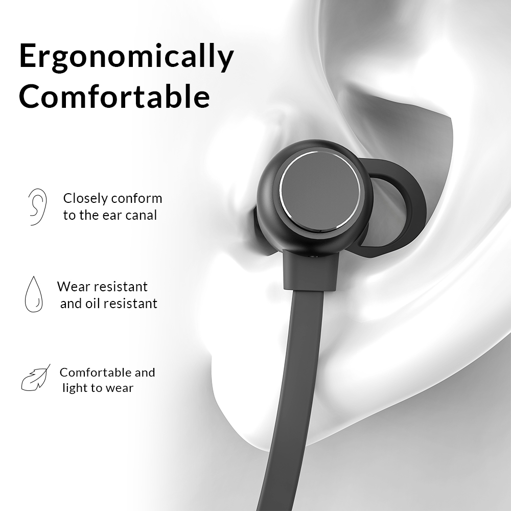 TOPK F10 Bluetooth Earphone Magnetic Wireless Earpieces Neckband Earbuds Handsfree Sport Stereo for Phone with Mic in Bluetooth Earphones Headphones from Consumer Electronics