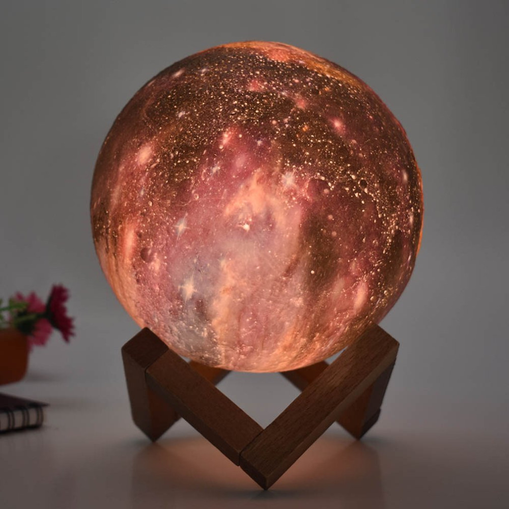 Creative 3D moon light Colorful Painting Touch Moonlight Light Table Lamp Practical Durable Household Decorations