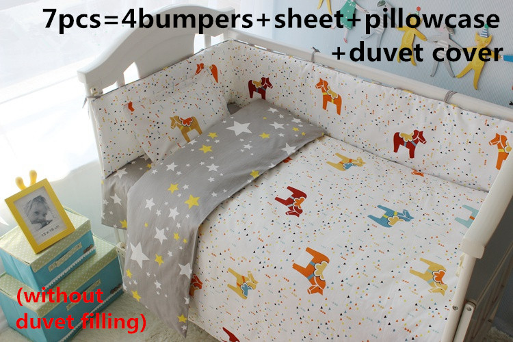 Promotion! 6/7PCS Rabbit Baby Bedding Set, Bed Sheet Set,Baby Crib and Cot Products ,duvet cover ,120*60/120*70cmPromotion! 6/7PCS Rabbit Baby Bedding Set, Bed Sheet Set,Baby Crib and Cot Products ,duvet cover ,120*60/120*70cm