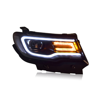 car styling For Jeep Guide headlights 2016-2019 For Jeep Guide LED light bar Q5 bi xenon lens LED Bulb U angel eyes projector