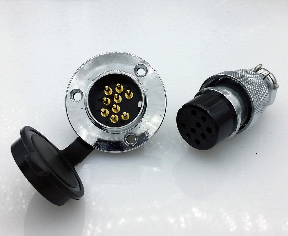 DF25 GX25 9Pins 25mm  Aviation plug  and socket Connector kit GX25 Socket+Plug+WaterProof Cap Aviation plug interface ac 500v 10a 10 pins aviation navigation connector coupler plug
