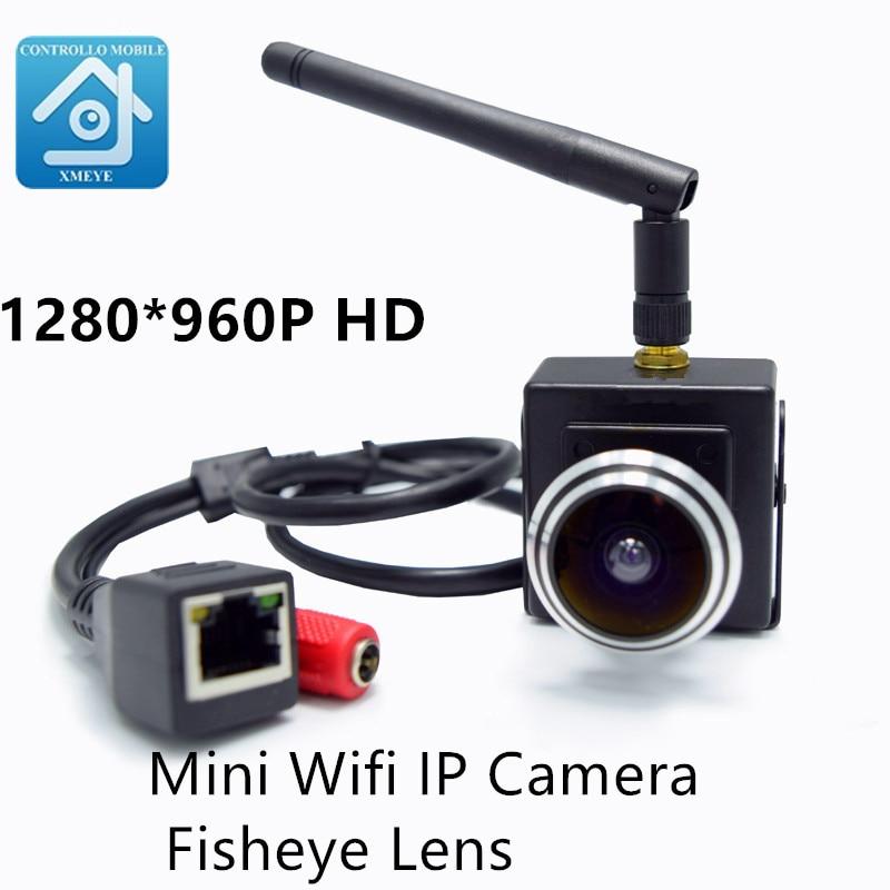 1,3 Megapixel HD 1,78mm Weitwinkel Fischaugen-objektiv Onvif 960 P drahtlose ip Wifi Kamera Innen Kleinste Wifi Ip-netzwerk-kamera Mini