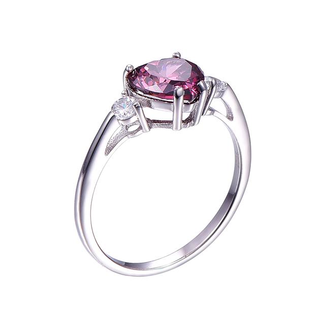 Heart Genuine Garnet Ring 925 Sterling Silver engagement ring Stunning Fabulous Design Hot Sale Promotion Best Gift For Friend
