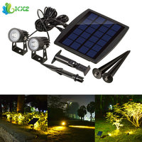 Outdoor Solar Power LED Spot Light Ultra Bright Waterproof LED Spotlight Submersible Security Lamp For Garden