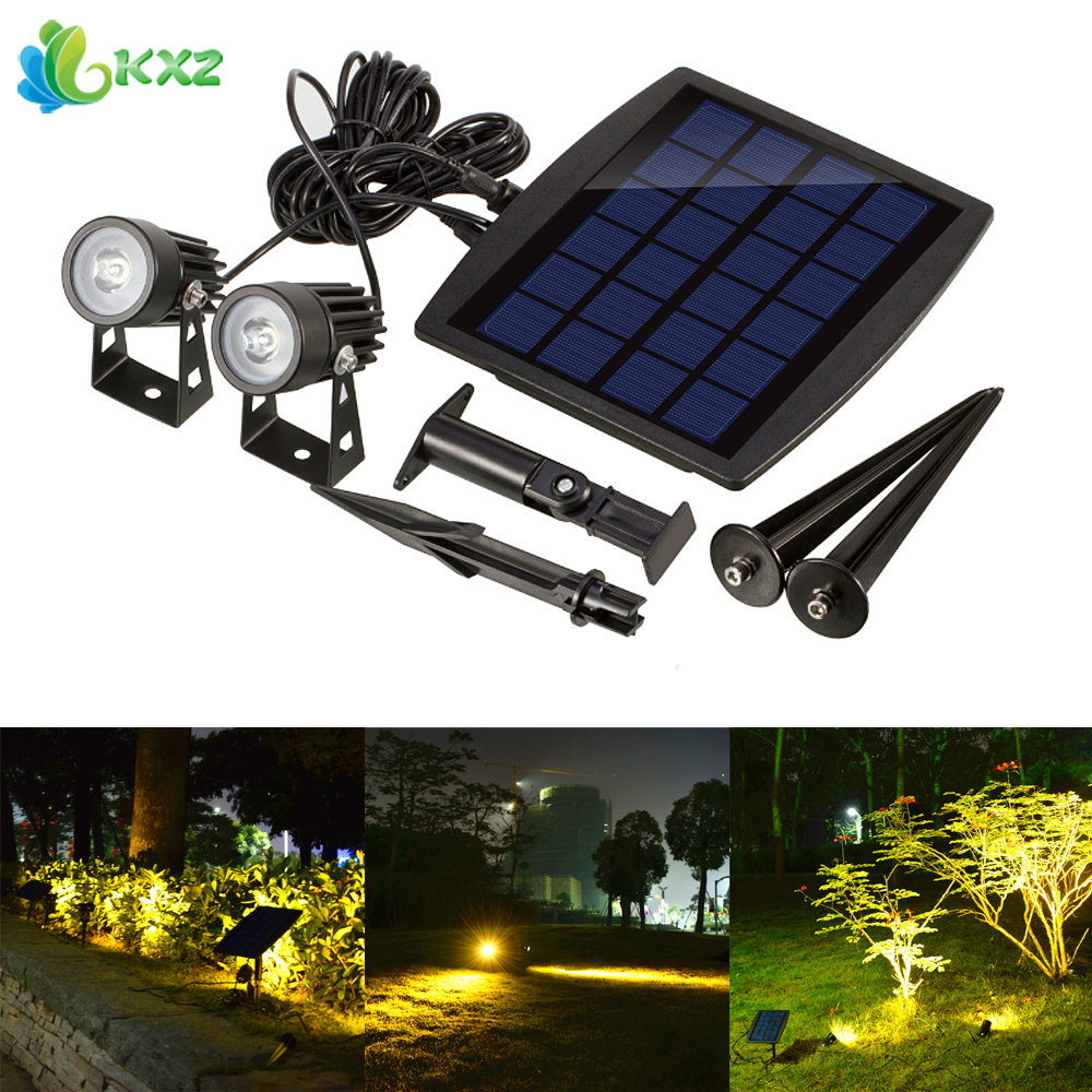 Outdoor Solar Power LED Spot Light Ultra Bright Waterproof LED Spotlight Submersible Security Lamp for Garden Pool Lawn Patio