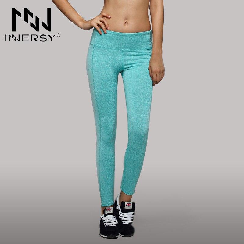 Prix pour Innersy Patchwork Haute Élasticité couleur bonbon Femme Courir Danse De Remise En Forme Yoga Pantalon Super Respirant Yoga Leggings Jzh93