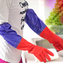 New Design Dishwashing Gloves Thick Warm Long Gloves Kitchen Wash Dishes Household Glove Cleaning Tools
