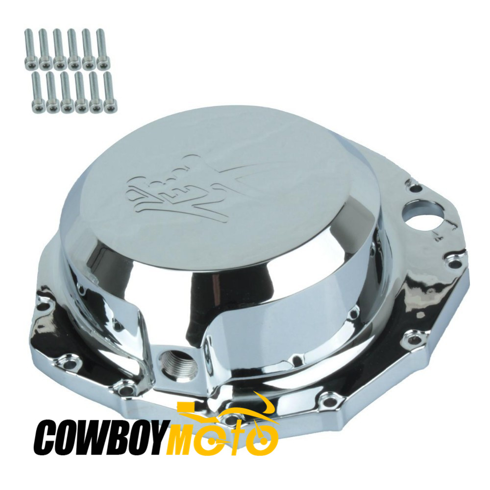 Chrome Motorcycle Engine Stator Right Side Crankcase Cover For Suzuki Hayabusa GSX-R1300 GSXR 1300 1999 - 2012 Aluminum