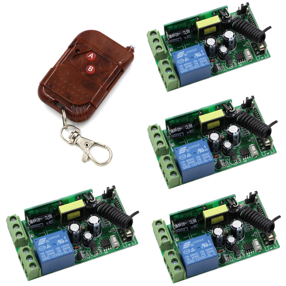 AC 85V-250V RF Wireless Remote Control Switch Transmitter&Receiver 1CH for Light/LED/Lamp Applicance Toggle Momentary Latched new ac 220v 30a relay 1 ch rf wireless remote control switch system toggle momentary latched 315 433mhz