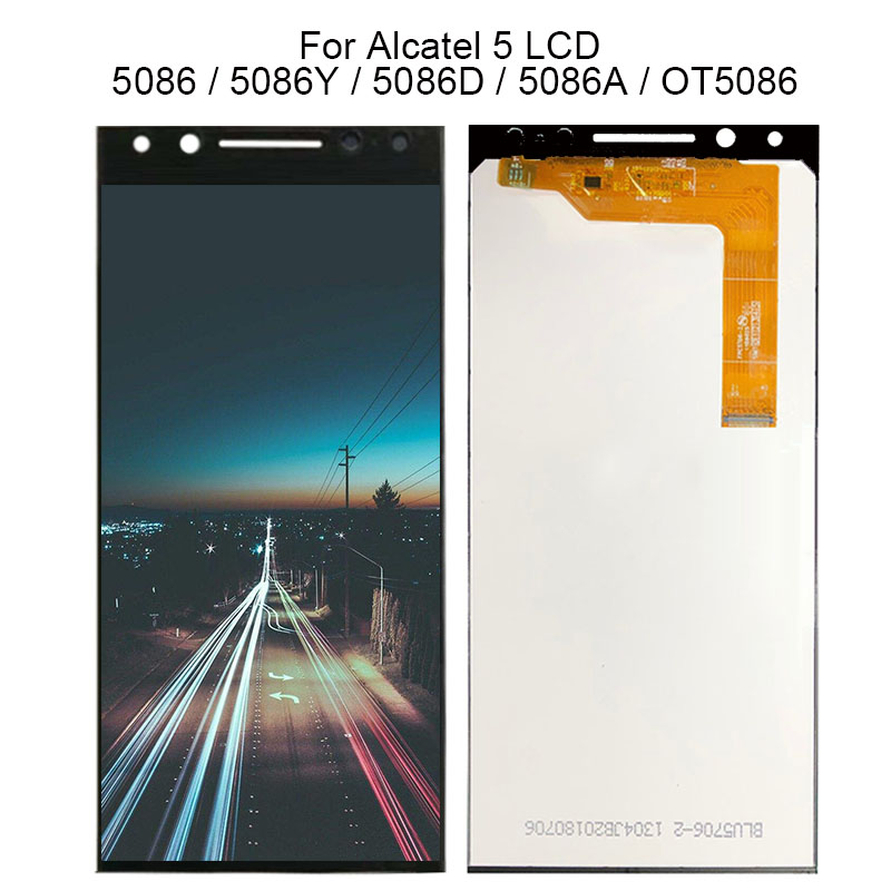 5.7 New Black / White / Gold For Alcatel 5 5086 5086A 5086D 5086Y LCD DIsplay + Touch Screen Digitizer Assembly 100% Tested5.7 New Black / White / Gold For Alcatel 5 5086 5086A 5086D 5086Y LCD DIsplay + Touch Screen Digitizer Assembly 100% Tested