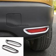 2 unids/lote para Nissan Qashqai J11 2014 + ABS Reflector trasero de cromo antiniebla lámpara cubierta pegatina accesorios de decoración