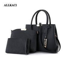 2018 New Brand Women's Luxury Composite Shoulder Bags Ladies Handbags Clutches Bags Set 3Pcs/Sets Sac A Main Femme De Marque 50