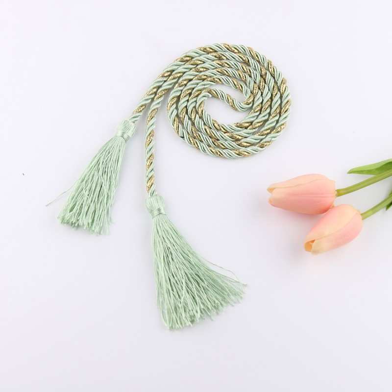 Home Decor Home & Garden Modern Traditional Chinese Tassel Rope Curtain Holder Curtain Accessories Decoration Curtain Rope Red Wholesale Retail Cp061