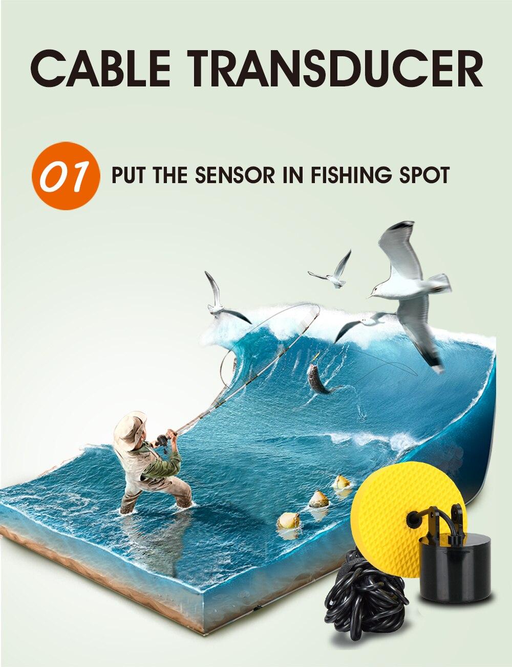 Sorte inventor de peixes para pesca barco