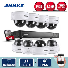 ANNKE 8CH 1080P NVR Network CCTV System 8pcs 2.0MP PoE Dome Security Cameras IR WDR CCTV Security Camera System 1TB HDD