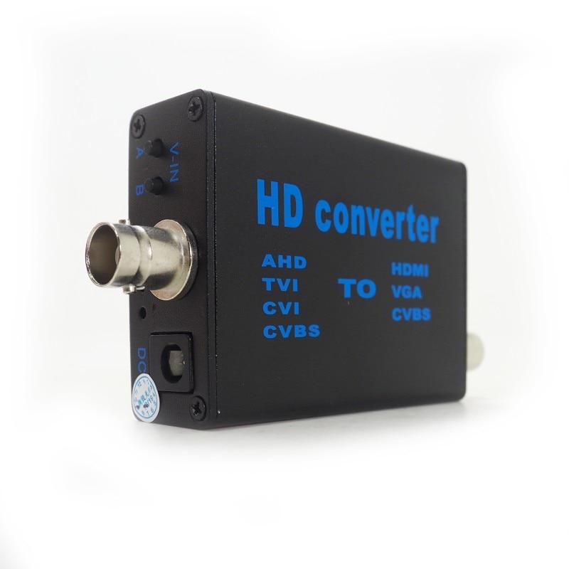 Factory Direct 4-in-1 high definition video signal convertor AHD41, AHD/TVI/CVI/CVBS signal to HDMI/VGA/CVBS signal converter