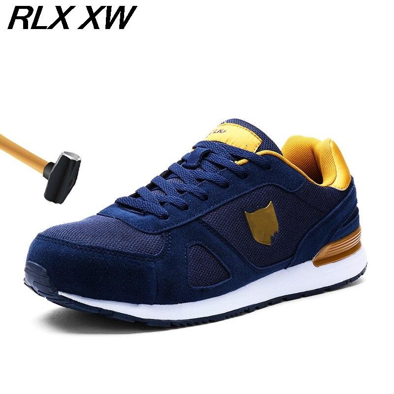 Aço Segurança Sapatos Do green Protetora gray esmagamento Leve De blue Respirável Reflexiva Biqueira Homens Trabalho slip Anti Black Anti Para Bqw4IEc