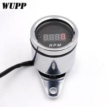 WUPP 12V Universial Tachometer Motorbike Motorcycle Digital Red Led Tacho Gauge RPM