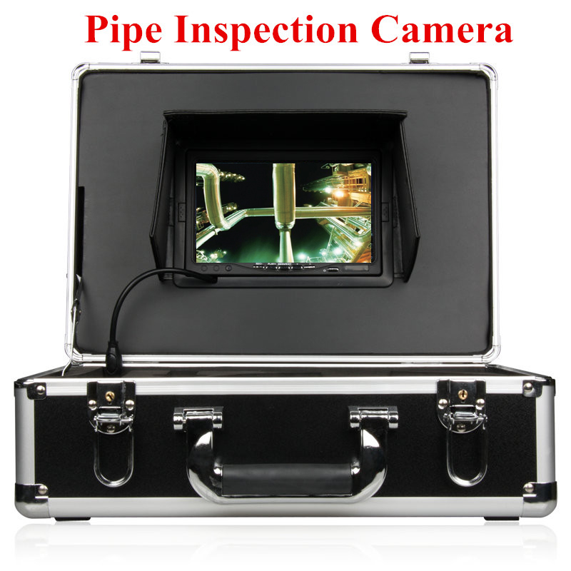 20m fiberglass cable professional camera pipe plumbing drain inspection camera sewage camera. Black Bedroom Furniture Sets. Home Design Ideas