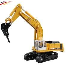 Alloy 1:87 Caterpillar Excavator/Drilling Machine/Material Handler Diecast Model with Rotates 360 Degree on Chassis